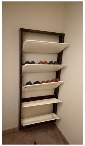 Metal Wall Mounted Shoe Rack Cabinet 12194 Shoe Rack Shoerack In 2020 Wall Mounted Shoe Rack Wall Mounted Shoe Storage Shoe Storage Furniture