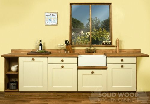 Base cabinets belfast sink unit solid oak worktop for Kitchen units without plinths