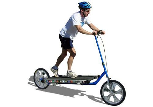 Part treadmill, part scooter, all novelty velocipede, the Treadmill Bike is exactly what it sounds like: this wacky contraption lets you run while you bike. Or is that bike while you run?