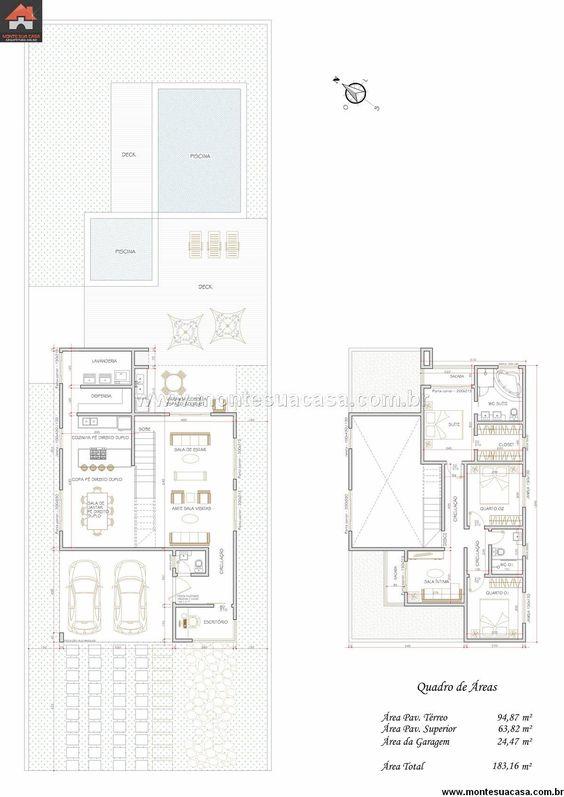 Sobrado - 3 Quartos - 183.16m² - Monte Sua Casa