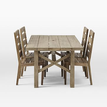 Jardine Dining Set – Driftwood (Table + 6 Chairs)