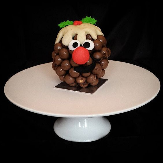 Novelty Xmas pudding treat. made with a chocolate orange maltesers and marzipan. Made to order @ Donnalicious cakes £3 gift bagged with personalised gift tag