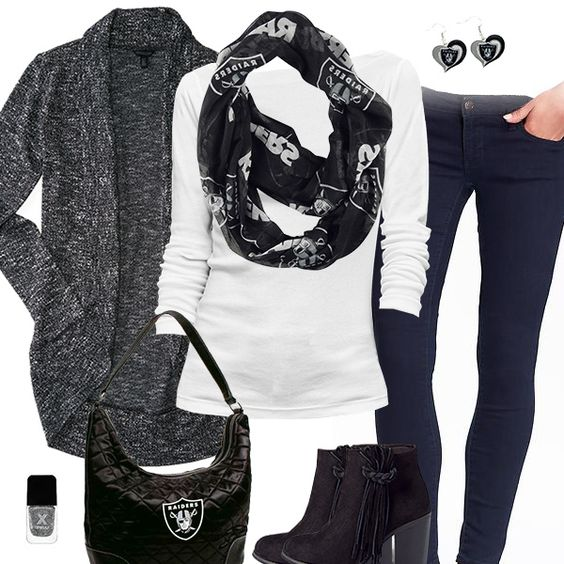 Oakland Raiders Scarf Outfit