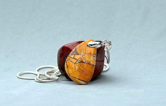 Brecciated Mookaite Jasper pendant charm jewelry with by SAGaStone