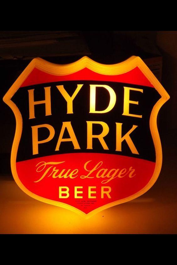 Hyde Park Beer Sign