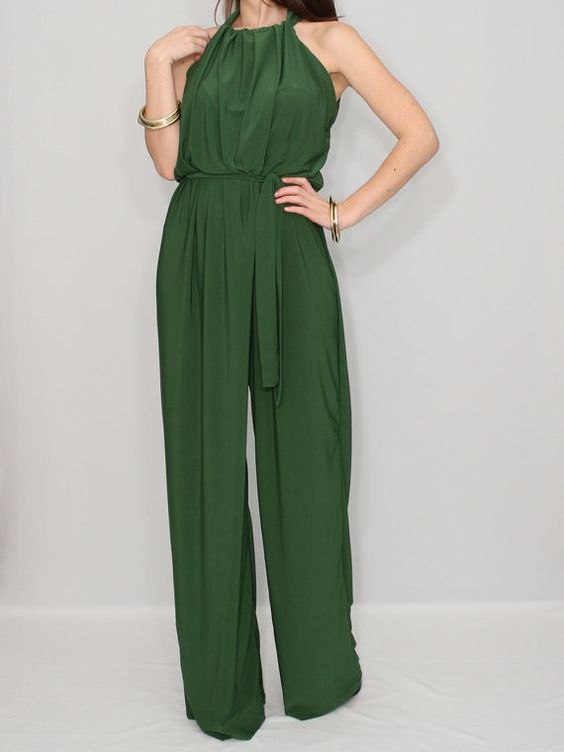 One piece jumpsuit Womens Green jumpsuit Unique by KSclothing ...