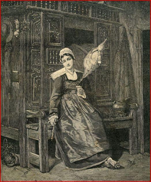 La quenouille sert à maintenir et stocker les fibres (laine, lin, chanvre  …) qui ne sont pas encore filées, afin qu'elles ne s…   Quenouille, Art  populaire, Fileuse