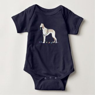 Saluki Christmas Design Infant Creeper