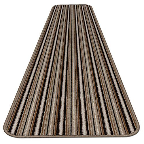 Skidresistant Carpet Runner Mocha Brown Stripe 12 Ft X 36 In Many Other Sizes To Choose From Click On Area Rugs For Sale Carpet Runner Washable Area Rugs