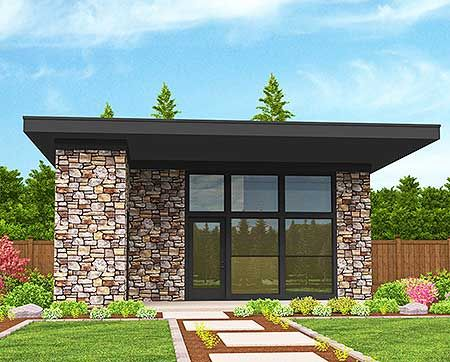 Modern house plans house plans and modern houses on pinterest for Modern guest house plans