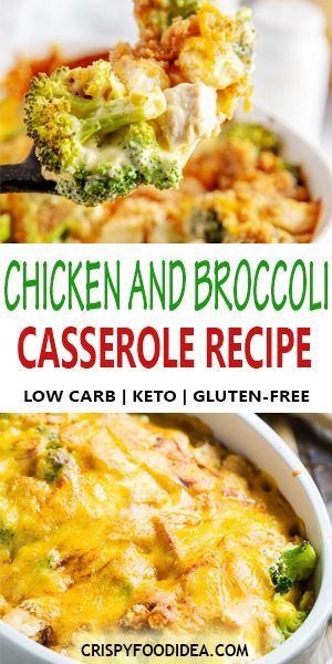 Keto Chicken and Broccoli Casserole for Keto Dinner