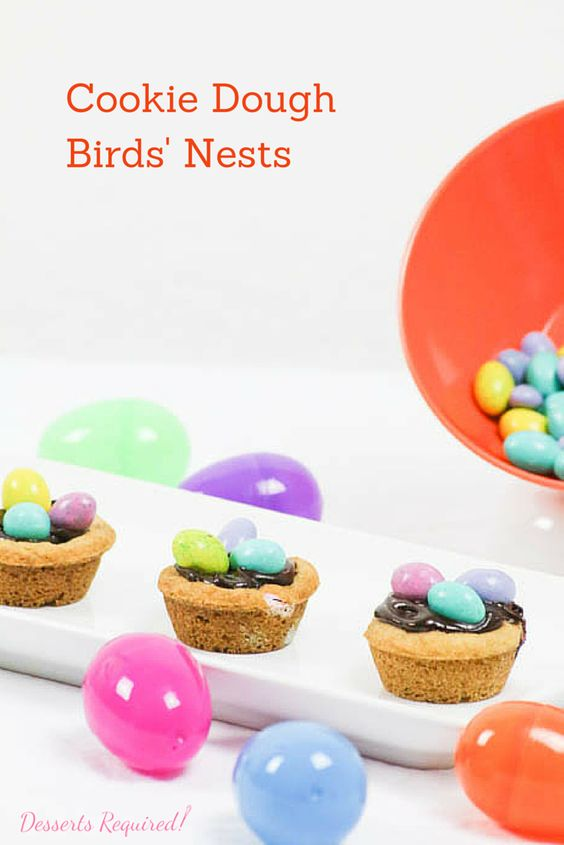 Cookie dough birds 39 nests recipe desserts holiday for Some good christmas treats to make