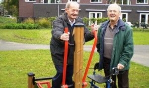 Playgrounds not only for children, but also good for health of older people.