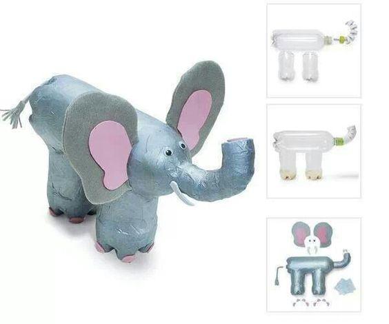 Éléphant en bouteilles