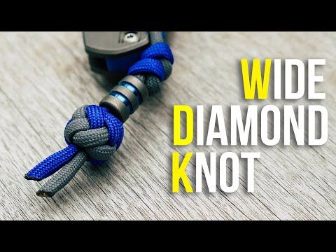 Tie A Wide Diamond Knot Tutorial Wide Paracord Lanyard Knot