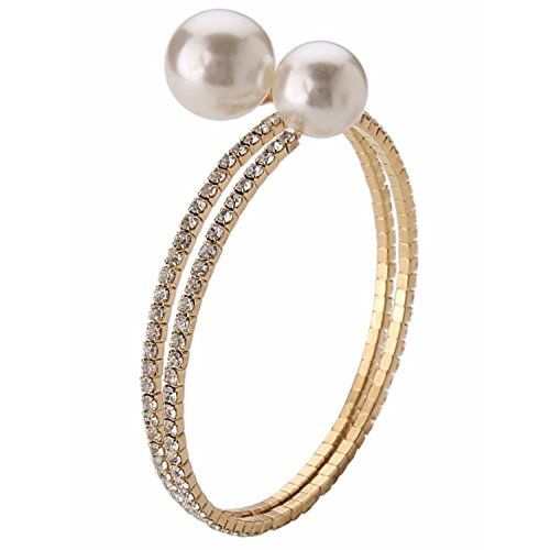 Efulgenz Indian Stylish Gold Plated Traditional Pearl Bangles Set Jewelry for Girls and Women