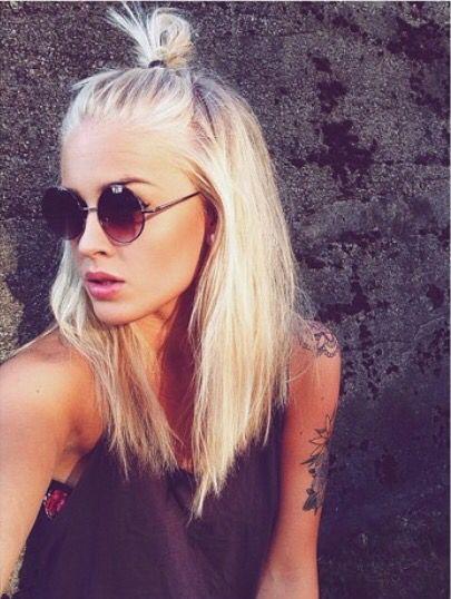 Sassy Blonde Angled Lob