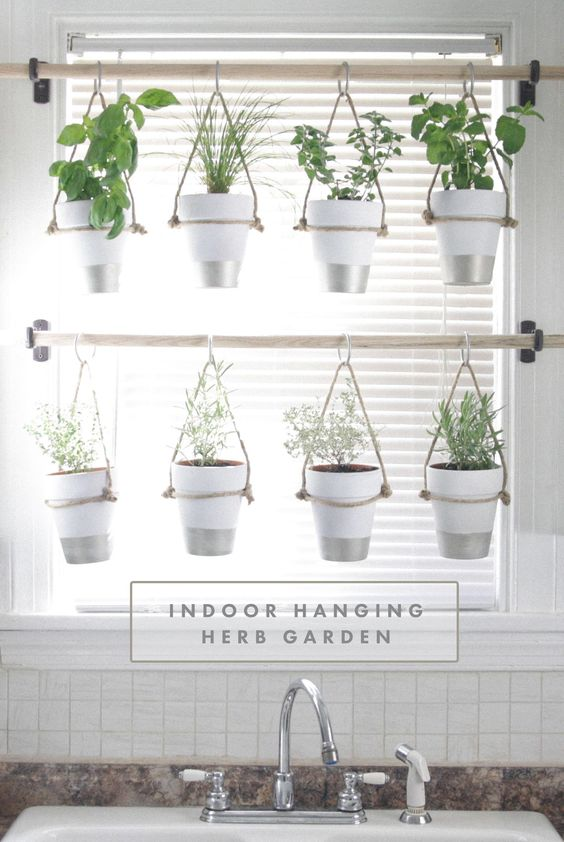 Diy indoor hanging herb garden learn how to make an for Indoor gardening made easy