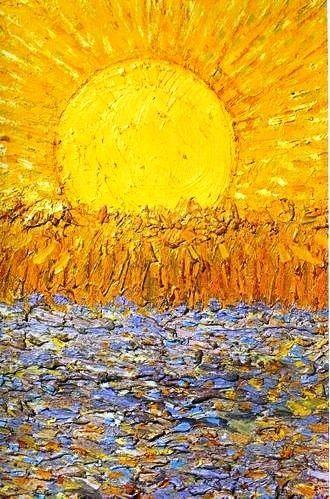 """audreylovesparis:  """"I dream my paintings, then I paint my dreams."""" Vincent Van Gogh - Le Soleil"""
