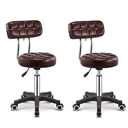 Xiaoping Bar Stool Restaurant High Stool Counter Chair Office Chair Home Computer Chair Color Brown 2 Computer Chair Counter Chairs Office Chair