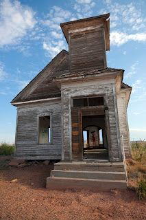 Abandoned church near Billy The Kid's Grave in Ft. Sumner, NM