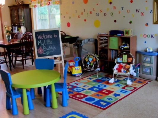 Home Daycare Ideas Small Spaces Preschool At Home Home Daycare Family Day Care
