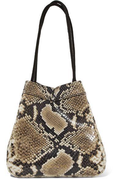 d69cfcbde9ff REJINA PYO - Rita Snake-effect Leather Bucket Bag - Snake print in ...