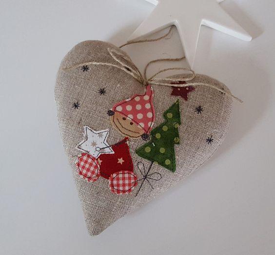 """Weihnachtsdeko - Herz """"Wichtel""""- Weihnachten- Landhaus - ein Designerstück von Feinerlei bei DaWanda"""
