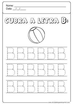 Cubra A Letra B Atividade Alfabeto Educacao Infantil Atividades