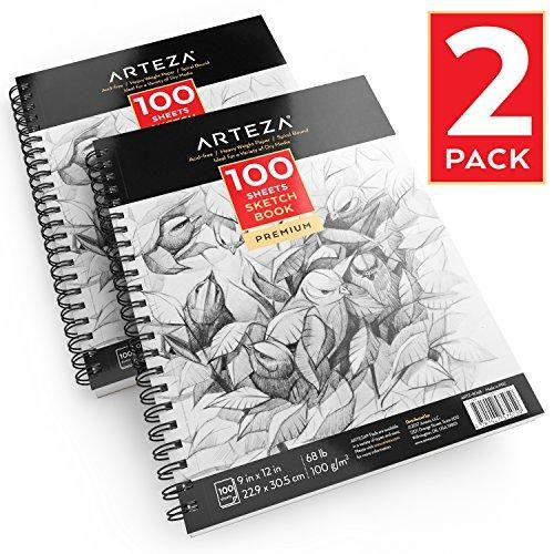 "Pro Art Hard Bound Sketch Book 5.5/""x8/""-110 Sheets"