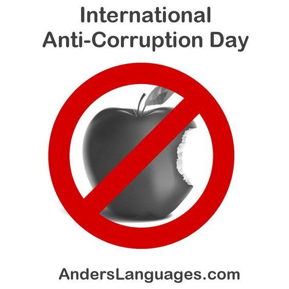 9 de diciembre. Día Internacional contra la Corrupción. #breakthechain #anticorruptionday