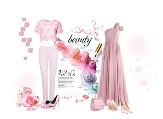 """""""Punchy Pastels...Pink"""" by carla-altum ❤ liked on Polyvore featuring J.Crew, Sophia Webster, NYDJ, Dolce&Gabbana, Glamorous, Shourouk and Bling Jewelry"""