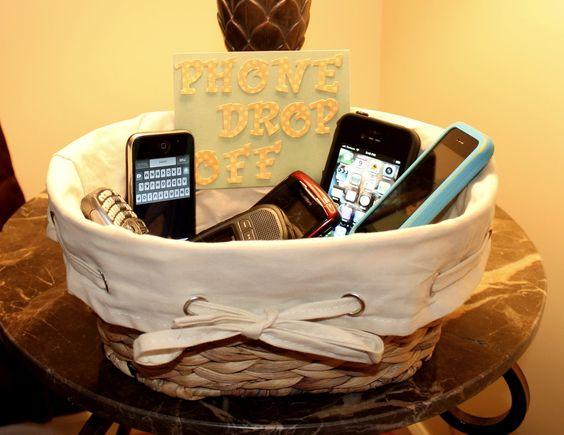 "Dinner Time; Phone ""Drop Off"" Basket.:"
