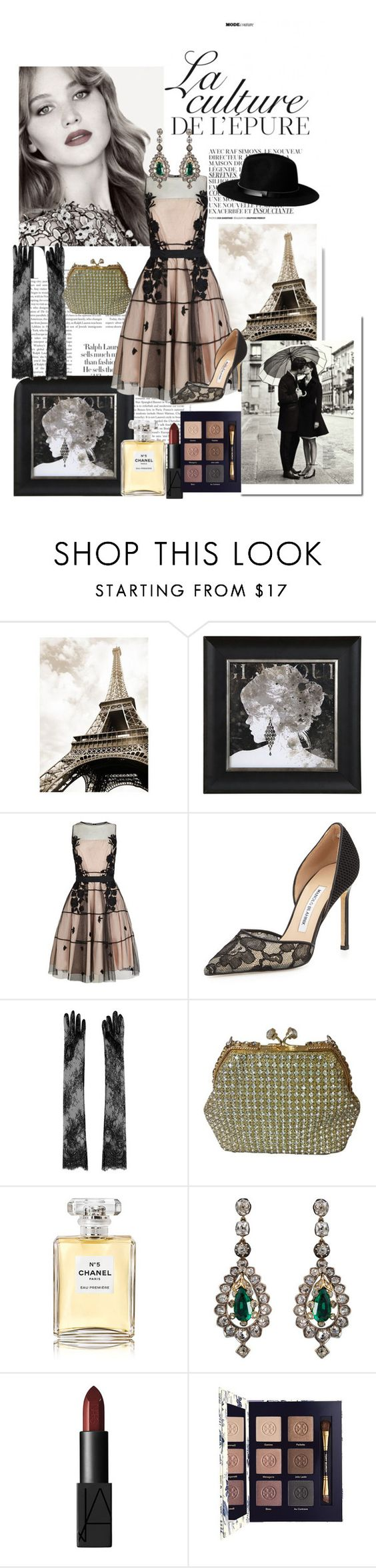 """How's Paris?"" by november-skyline ❤ liked on Polyvore featuring By Zoé, La Femme, Coast, Manolo Blahnik, N°21, Vintage, Chanel, H&M, NARS Cosmetics and Tory Burch"