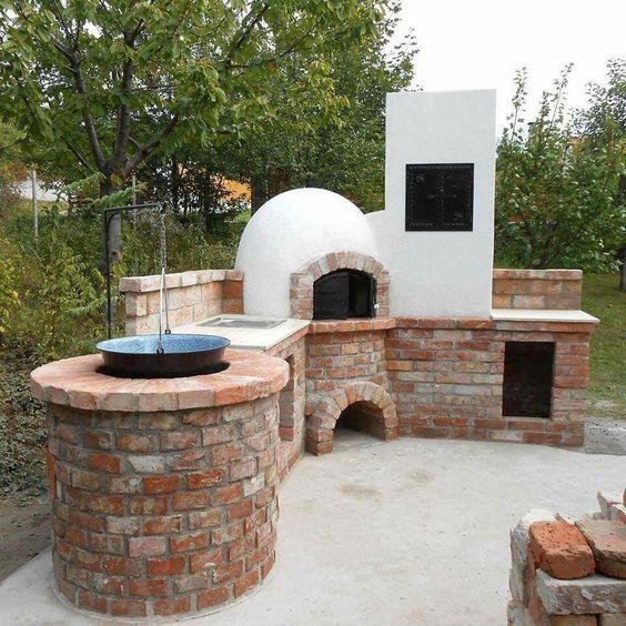 Horno de le a ladrillos asadores pinterest - Cocinas con horno de lena ...