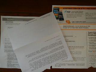 Repurposing Junk Mail