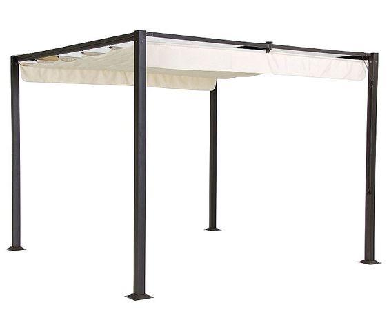 Aki bricolaje jardiner a y decoraci n p rgola jard n for Recambio tela parasol 3x3