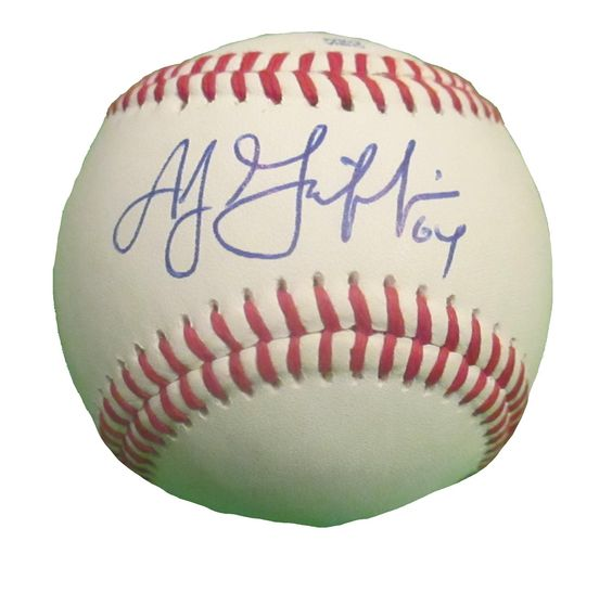 Oakland A's A.J. Griffin signed Rawlings ROLB leather baseball w/ proof photo.  Proof photo of AJ signing will be included with your purchase along with a COA issued from Southwestconnection-Memorabilia, guaranteeing the item to pass authentication services from PSA/DNA or JSA. Free USPS shipping. www.AutographedwithProof.com is your one stop for autographed collectibles from Oakland Athletics & MLB teams. Check back with us often, as we are always obtaining new items.