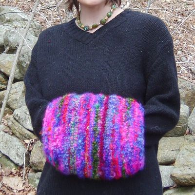 Free Crochet Pattern For Hand Muff : Woollen Hand Muff MATERIALS [MC] An assortment of ...