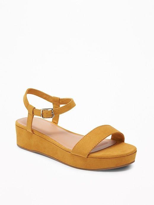 Women/'s Nyomi Platform Wedge Backstrap Buckle Close Toe Easy Wear Design