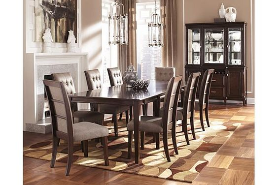 The Hayley Dining Room Extension Table From Ashley Furniture HomeStore AFHS Rich Finish And Stylish Contemporary Design Of