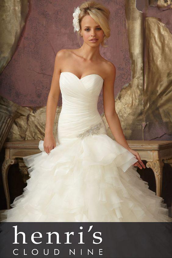 Shop www.henris.com  Minerva 1.800.952.3560  Columbus 1.888.823.9880  #Wedding # Dress #Gown #MoriLee