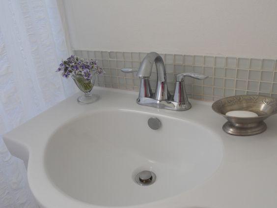 Bathroom sink with bare necessities