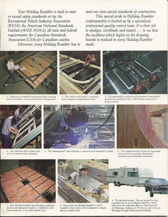 1977 Holiday Rambler safety standards 72 Holiday Rambler