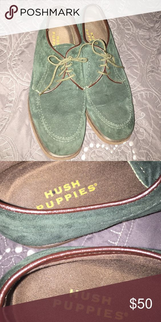 Vintage Hush Puppies green velvet oxfords Perfect vintage condition! Never worn and soles are in tact as well as label in shoes Vintage Shoes