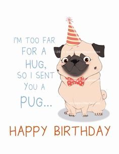 Pug Birthday Card Fresh Funny Birthday Card With Pug Printable Greeting Card Instant Happy Birthday Dog Happy Birthday Pug Funny Happy Birthday Wishes