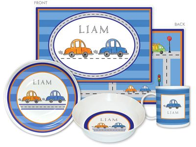 Vroom Vroom 4-Piece Dinnerware Set