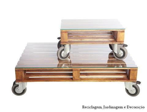 mesa de centro feitas de paletes
