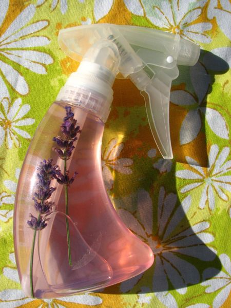 Flearepellent ~ * Small squirt bottle 3–5 ounces works fine.  *  2 cups water  *  2 Tbsp alcohol-free witch hazel  *  1 large lemon sliced  *  Handful of fresh lavender sprigs or 1Tbsp dried lavender  * Small saucepan...  See comments below, or website link for directions
