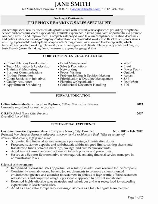 Customer Support Specialist Resume Awesome Top Banking Resume Templates Samples Marketing Branding